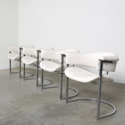 Set of 4 dining chairs by Vittorio Introini, Italy 1970s