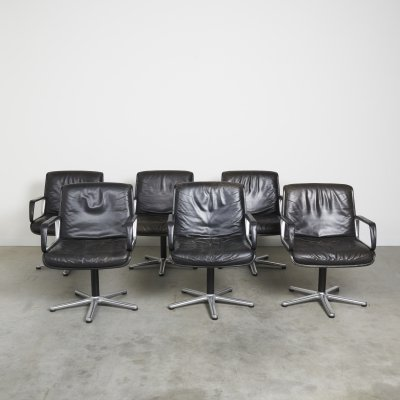 Set of 6 vintage chairs by Wilkhahn, 1970s
