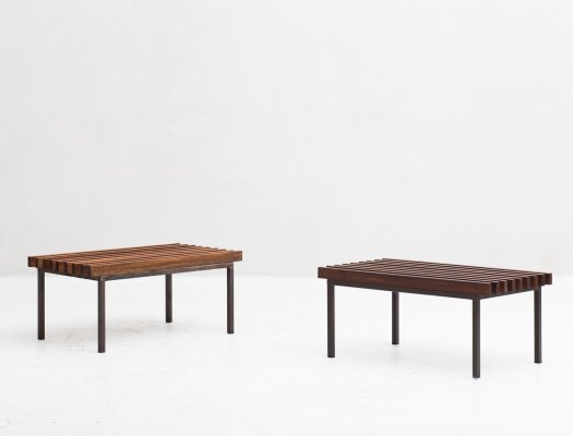 2 slatted benches, 1970's
