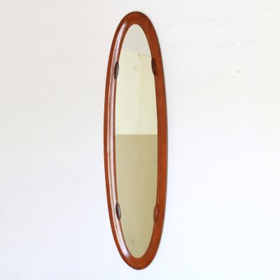 1950s vintage oval wall mirror