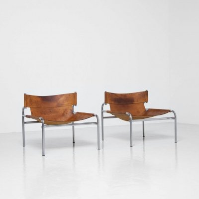 Pair of Walter Antonis SZ12 lounge chairs by 't Spectrum, Holland 1971