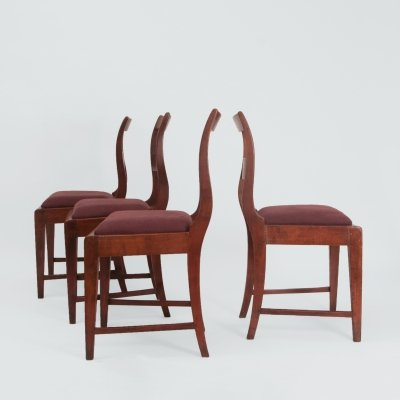 Vintage set of 4 Danish dining chairs