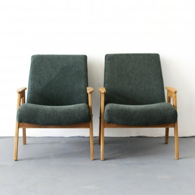 Pair of green armchairs, USSR 1970s