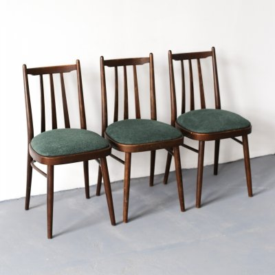Set of 3 Ligna dining chairs, 1970s