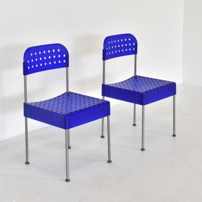 2 x Box dining chair by Enzo Mari for Driade, 1990s