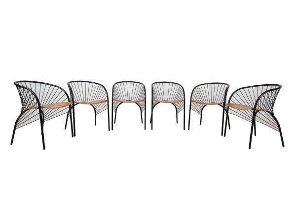 Set of Six 'Lizie' Dining Chairs for Pallucco by Regis Protiere, Italy 1984