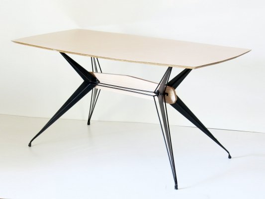 1950s six seats vintage dining table