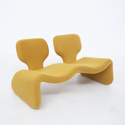 Yellow Fabric Djinn Sofa by Olivier Mourgue, 1960s