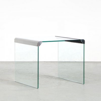 1970s Square side table by Pierangelo Gallotti for Gallotti & Radice, Italy