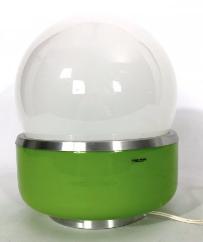 Space Age murano glass 'Corsica' table lamp by Stilux Milano, 60s