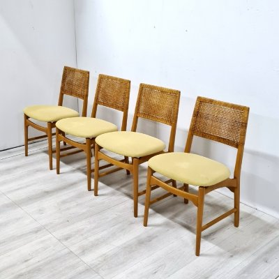 Set of 4 Alfred Sand dining chairs, 1960s
