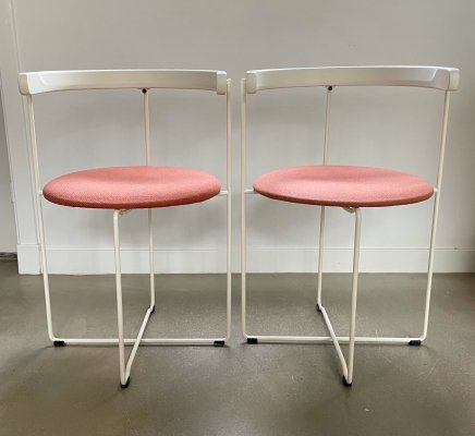 Set of 2 foldable 'Soley' chairs by Valdimar Harðarson for Kusch & Co, 1980s