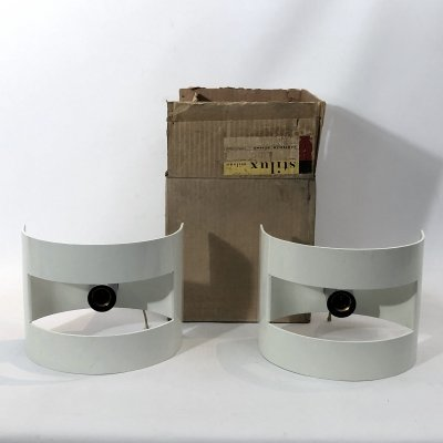 Rare Pair of large 'Lido' sconces by Stilux Milano, 1960s