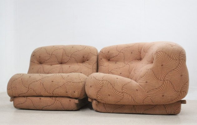 Pair of Nuvolone armchairs by Rino Maturi for MIMO, 1970s