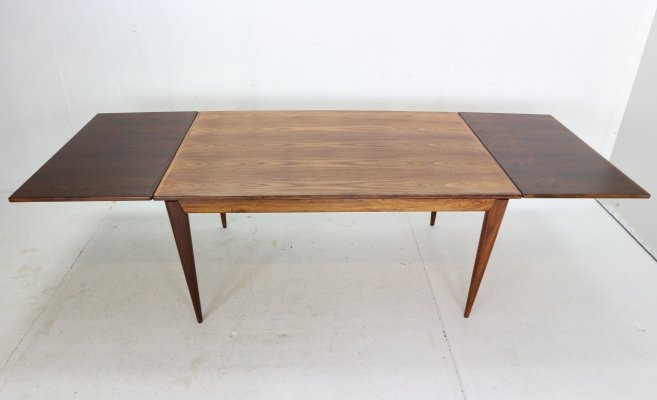 Niels Otto Møller Extendable Rosewood Dining Table No. 254 for J.L. Møllers, 1960
