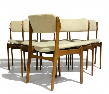 Set of 6 Model 49 Rosewood Dining Chair by Erik Buch