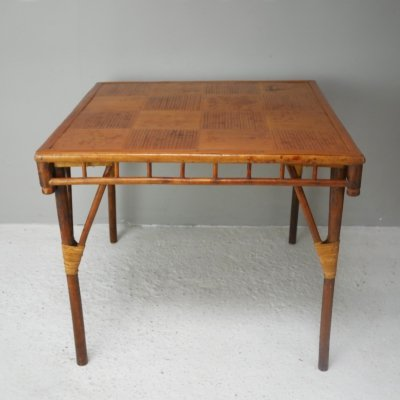 Early 20th century vintage bamboo table