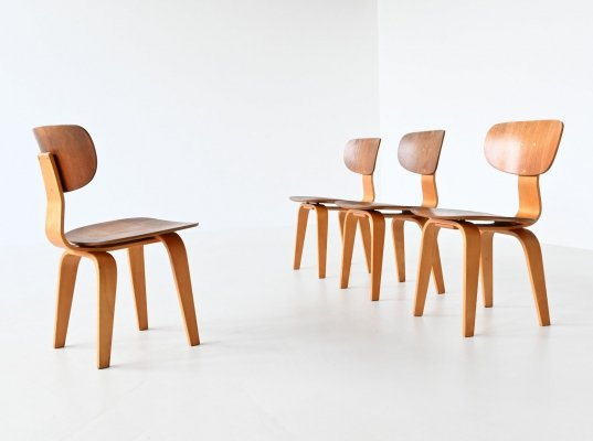 Cees Braakman SB02 dining chairs by Pastoe, The Netherlands 1952