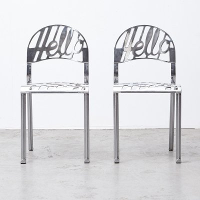 Jeremy Harvey Pair of 1st Edition Hello There Chairs for Artifort, 1978