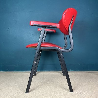 Mid-century red desk office chair Italy 1960s