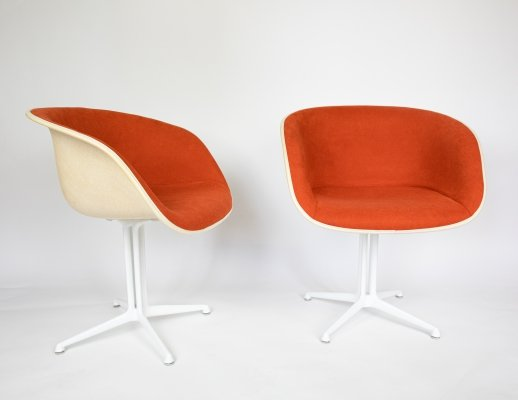 Pair of La Fonda dining chairs by Charles & Ray Eames for Vitra, 1960s