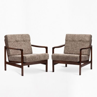 Pair of B-7522 armchairs by Zenon Bączyk, 1960s