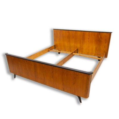 Functionalist double bed by Jindřich Halabala for UP Závody, 1950´s