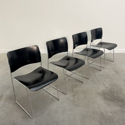 Set of 4 Dining chairs by David Rowland for Seid International, USA 1960s