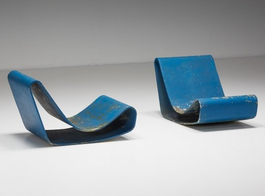 Set of Loop Lounge Chairs by Willy Guhl for Eternit SA, 1950's