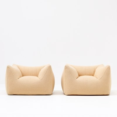 Pair of Bambole arm chairs by Mario Bellini for B & B Italia, 1970s