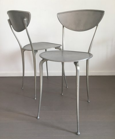 Pair of Arper dining chairs, 1980s