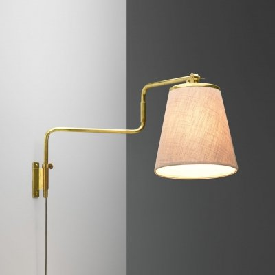 Paavo Tynell Model '9414' Brass Wall Light for Taito Oy, Finland 1950s