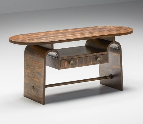 Japanese Style Rosewood Side Table, 1950's