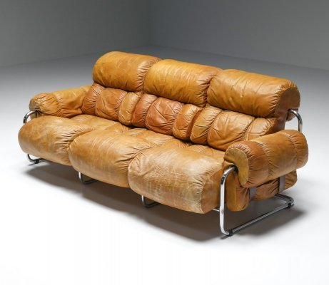 Tucroma Three Seater Sofa by Guido Faleschini for Pace Collection, 1970's