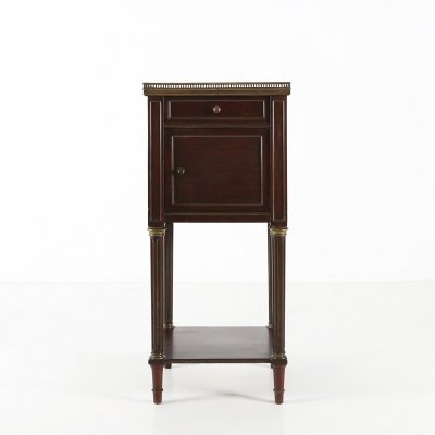 Nightstand in wood & marble, 1920s