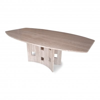 Dining table in travertine, 1970s