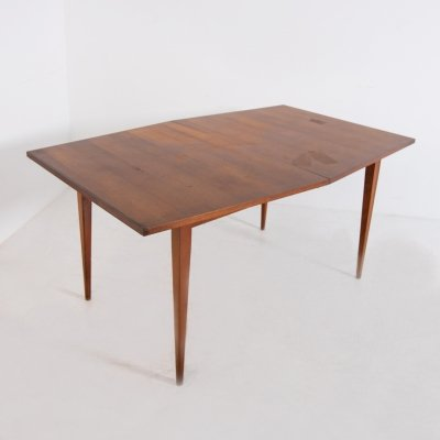 American Geometric Wooden Dining Table, 1950s