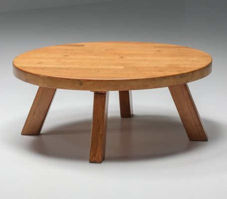 Round Coffee Table in Pine, 1960's