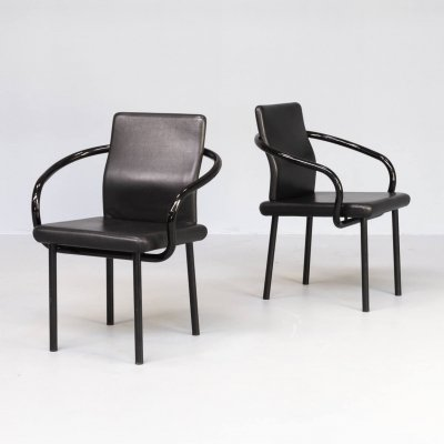 Pair of Ettore Sottsass 'Mandarin' chairs for Knoll, 1980s