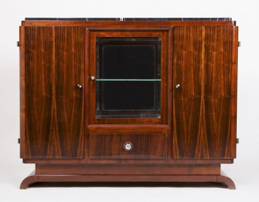 French Art Deco Sideboard with Marble Desk, 1930-1939