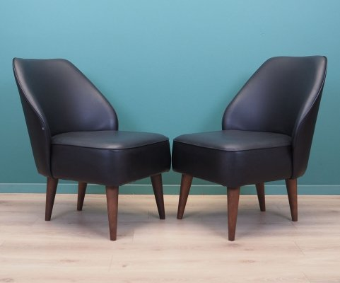 Set of two leather armchairs, Denmark 90s