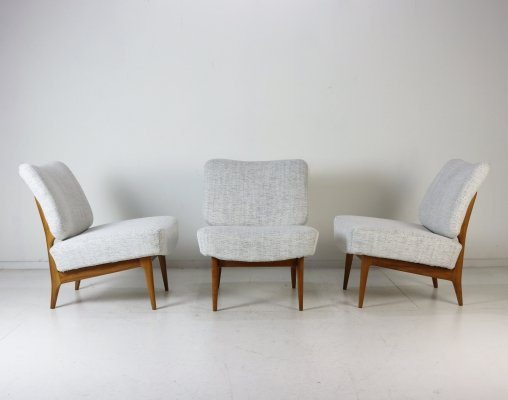 Set of 3 lounge chairs by Theo Ruth for Artifort, 1950s