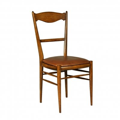 Set of 6 Czech Dining Chairs with leather upholstery, 1970s