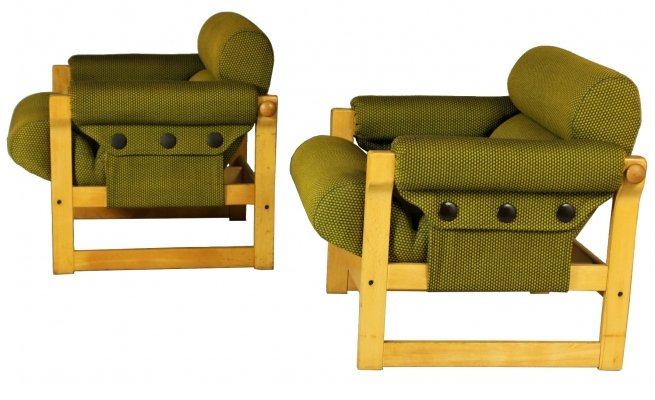 Pair of Lounge Chairs by Hikor, 1970s