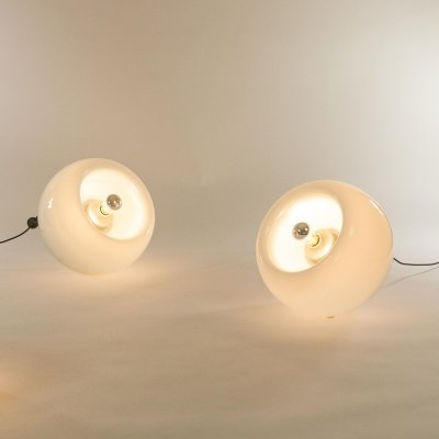 Pair of Murano glass Vacuna lamps by Eleonore Peduzzi-Riva for Artemide