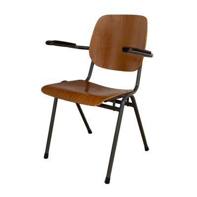 Stackable Industrial chair with armrests