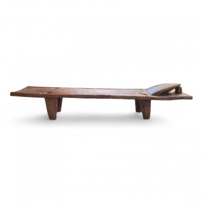 Large Senoufo ceremonial bed in solid wood from Ivory Coast