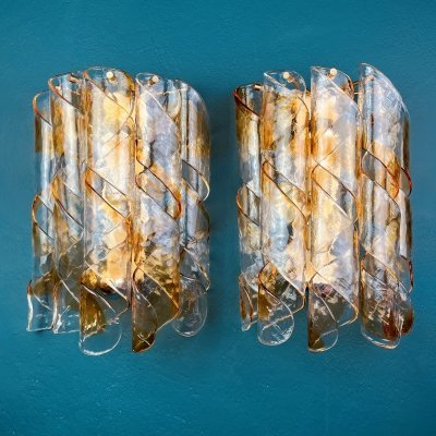 5 x vintage murano wall lamp or sconce, Italy 1970s
