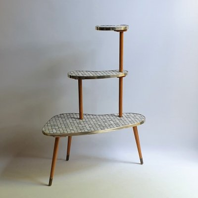 Trapeze plants table with mosaic tops, 1950s