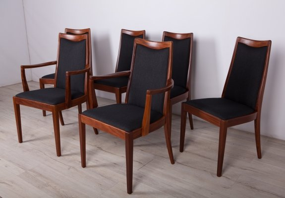 Set of 6 Mid-Century Teak Dining Chairs by Leslie Dandy for G-Plan, 1960s